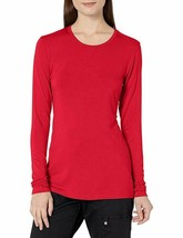 Cherokee Women's New Crewneck Long Sleeve Knit Basic Tee 4881 Red Extra ... - $14.01