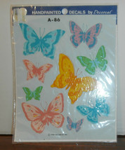 Butterflies A-86 Decoral Handpainted Waterslide Decals New Old Stock 1986 - $6.89