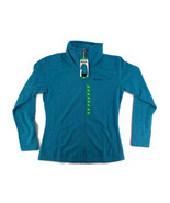 BENCH. Fleece Jacket SZ XL Womens Turquoise Mock Neck Thumbholes Inner Pckts NWT - £14.45 GBP