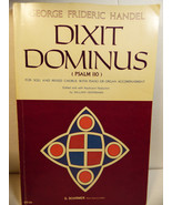 1975 Handel Dixit Dominus Psalm 110 Soli & Mixed Chorus with Piano & Org... - $14.26