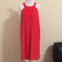 New Cynthia Steffe S Small Dress Halter Shift Red Keyhole Party Womens $... - $42.43