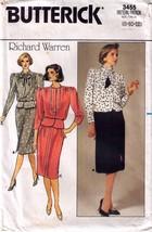 1985 TOP & SKIRT Pattern by Richard Warren 3455-b Sizes 8-10-12 Uncut - $12.99