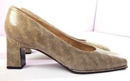 Stuart Weitzman Pumps Womens Square Toe Tan Brown Print Slip On Shoes Size 9 B - $84.10
