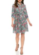 NWT TOMMY HILFIGER FLORAL COTTON BELTED SHIRT DRESS SIZE 16 $89 - $29.99