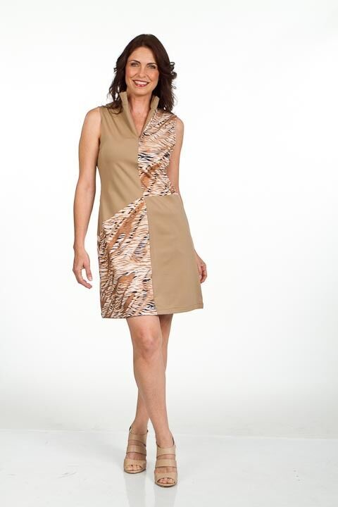 Stylish Golf/Casual Animal Print Golf Dress with Shortie - GoldenWear
