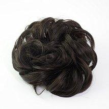 Abujia Messy Bun Hair Piece Hair Bun Extension Wavy Curly Messy Donut Hair Updo  image 2