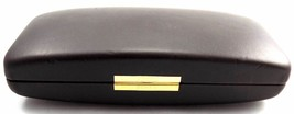 AUTHENTIC Ferre Hard Clamshell Brown Leather Case for Eyeglasses 1.8 in ... - $12.73