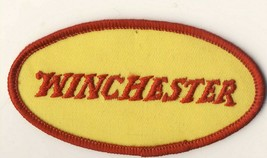 """Winchester Arms Rifles Guns Yellow Red Lettering 4"""" Long Embroidered Patch - $10.25"""