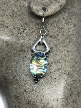 VINTAGE ABALONE EARIINGS 925 Sterling Silver Lever Backs - $51.48