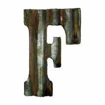 "Metal Letter ""F"" 8 x 5 inches Rusty Industrial Steampunk Letter w/ Hanger - $29.00"