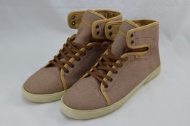 VANS Beige Tan Brown Women's Canvas Denim High Tops OJW278A Size 9 EUR 4... - $85.98