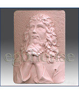 egbhouse, 2D silicone Soap/clay/cold porcelain mold-Praying Jesus - $32.00
