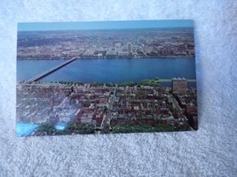 RPPC Postcard 1963-4 Charles River from Boston Prudential Tower Lusterch... - $5.94