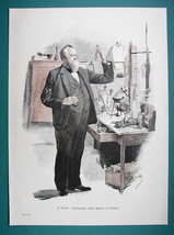TENOR SINGER A. Niemann in His Chemical Laboratory - COLOR VICTORIAN Era... - $16.20
