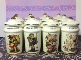 M.J. Hummel (12 PCS) Vintage Spice Jars with Lid - £122.18 GBP