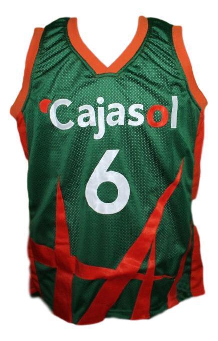 Kristaps porzingis  6 cajasol sevilla basketball jersey green   1