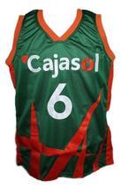 Kristaps Porzingis Cajasol Sevilla Basketball Jersey New Sewn Green Any Size image 1