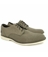 TIMBERLAND MEN'S WOODHULL SHOE MEMORY FOAM OLIVE CANVAS OXFORD SHOES A1UZ3 - $133.04