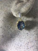 Vintage Bohemian Geniune Mystic Blue Topaz Handmade 925 Sterling Silver ... - $107.29