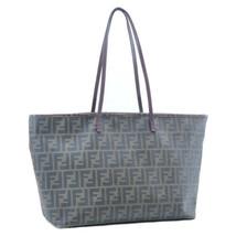 FENDI Zucca PVC Leather Tote Bag Khaki Pink Auth 11727 - $398.00