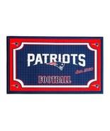 Patriots Door Mat Welcome Floor Rug Embossed Rubber Back Outdoor NFL Foo... - $29.65