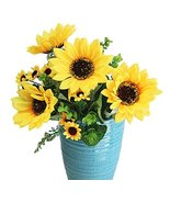 George Jimmy Flower Arrangement Wedding Bouquet Artificial Flowers -Sunf... - £20.14 GBP