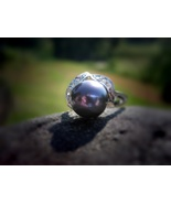 Haunted Merman Ring FREE with 100.00 purchase black pearl sterling silver - $0.00