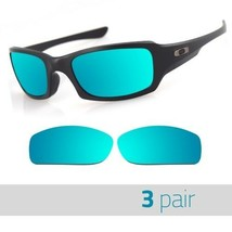 3 Pair Optico Replacement Polarized Lenses for Oakley FIVESQUARED Sunglasses Blu - $21.99