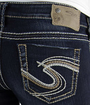 SILVER JEANS SALE NEW Dark Super Low Slim Tuesday Bootcut Stretch Jean 2... - $54.97