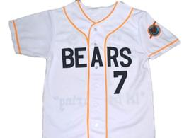 Bad News Bears Movie #7 Button Down New Men Baseball Jersey White Any Size image 1