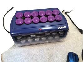 Conair Express Curls & Waves Hot Rollers - 19 Ceramic Rollers & 20 Heate... - $24.74
