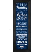 "Florida Atlantic University ""Owls"" 24 x 8 Family Cheer Framed Print - $39.95"