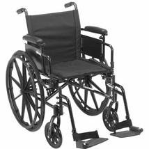 Drive Medical Cruiser X4 Lightweight Dual Axle Wheelchair with Adjustable Detatc - $215.90