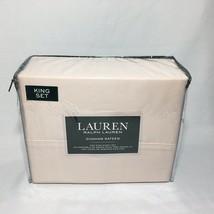Ralph Lauren 300TC Dunham Sateen Pink Champagne King Sheet Set - $82.23