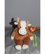 TY Retired Beanie Baby Bessie Cow 1995 Original Ty With Tags - $13.85