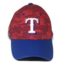 Texas Rangers Red Camouflage MLB Baseball Snapback Hat Adjustable Cap - $29.95