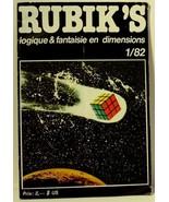 Rubik's Loqique & Fantaisie En Dimensions 1/82 Rubik's Cube Magazine Book - $49.49