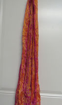 Ralph Lauren Purple Label Women's Crinkled Scarf 100%SILK ORANGE/PINK New Wi Tag - $374.75