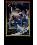 2018 DONRUSS OPTIC VARIATIONS RED AND YELLOW #165 MICKEY MANTLE NM-MT YA... - $2.96