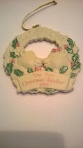 Vintage Avon Christmas Ornament 1992 First Christmas Together Ceramic/Po... - $5.94