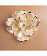 Couture statement huge brooch - Soft white signed rhinestone pin - joan ... - $95.00