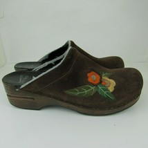 Dansko 42 Sandals Mules 11 Size Shoes Brown Womens Leather Suede Embroid... - $28.04