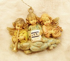 Italy Angel Cherub Old World Vintage Christmas Tree Ornament Lot 3 - $19.78