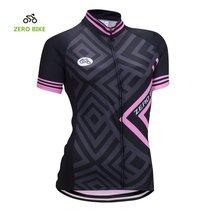 ZEROBIKE Women's Short Sleeve Cycling Jersey Jacket Cycling Shirt Quick Dry Brea - $14.84