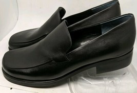 Franco Sarto Flex Black Leather Slip on Shoes Loafers Size 10.5 - AA - $23.03