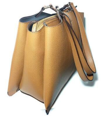 NWT $298 DKNY DONNA KARAN Paris Lg Caramel Light Brown Tote Handbag