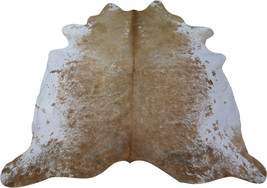 Speckled Cowhide Rug Size: 8' X 7.7' HUGE! Beige & White Speckled Cowhide M-275 - $276.21