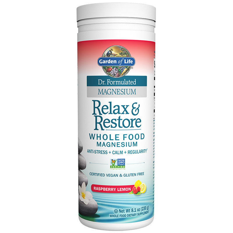 Garden of life dr formulated relax restore raspberry lemon 230g dietary supplements for Garden of life relax and restore