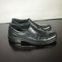 ECCO Mens 45/ 11-11.5 US Black Leather Slip-On Casual Comfort Dress Shoes  - $25.74