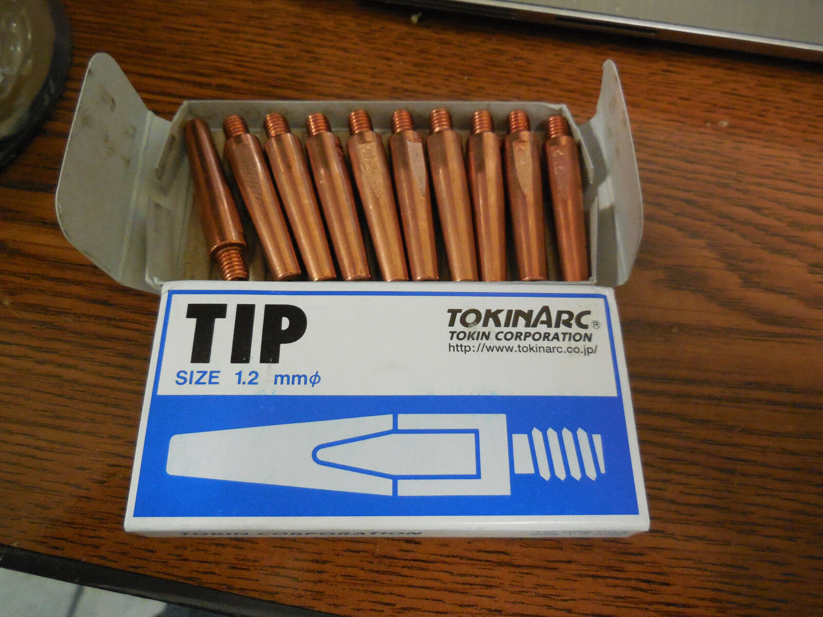 contact tips 1.2mm for MIG welding 002003 Tokinarc 10 Genuine Tokin